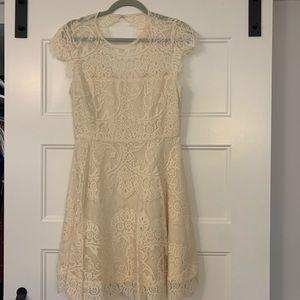 Cream BB Dakota Lace Dress
